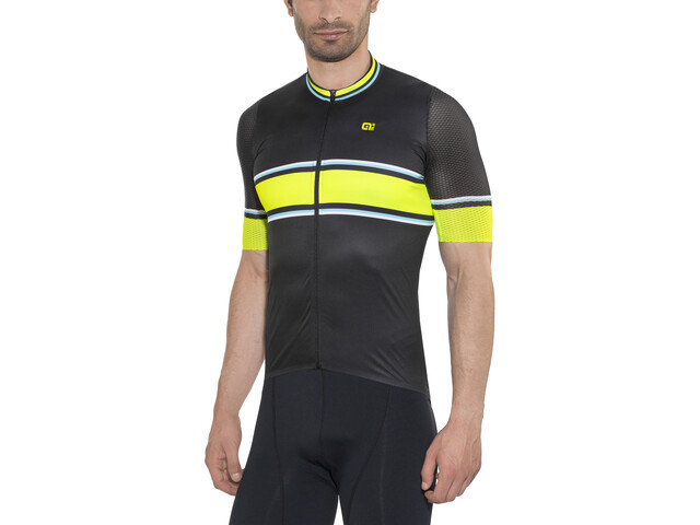 Alé Cycling PRR 2.0 Speed Fondo SS Jersey Herren black-fluo yellow-turquoise
